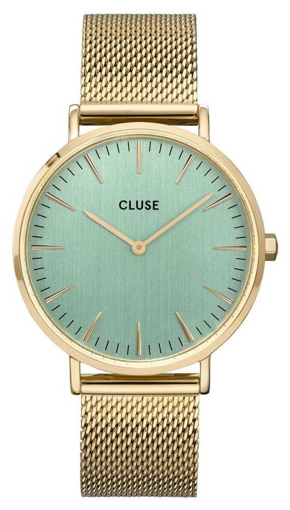 CLUSE | La Bohème | Gold Mesh Bracelet | Pale Green Dial | CW0101201027
