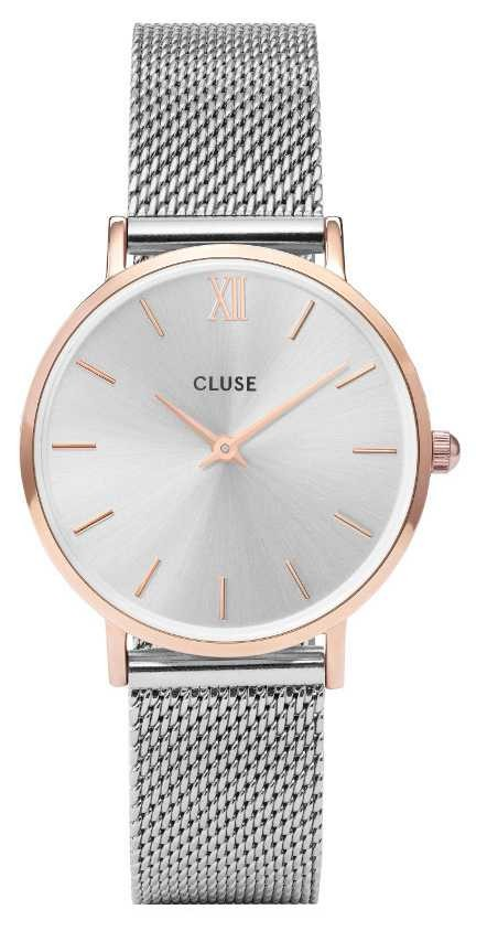 CLUSE Minuit | Silver Mesh Bracelet | Silver Dial | CW0101203004