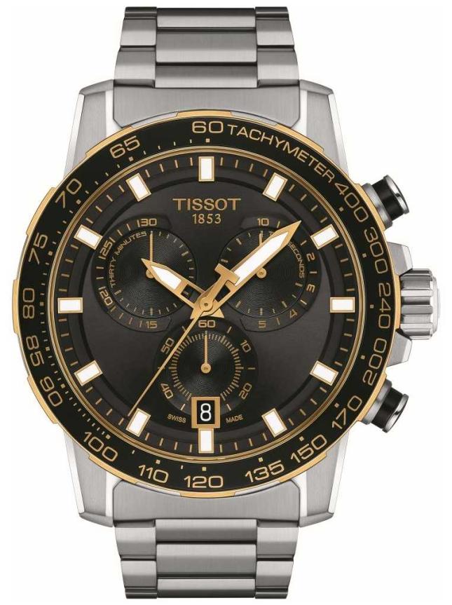Tissot Supersport Chrono | Black Dial | Stainless Steel Bracelet T1256172105100