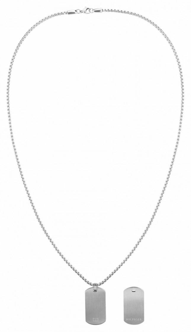 Tommy Hilfiger Men's Casual | Stainless Steel Dog Tag Necklace 2790288