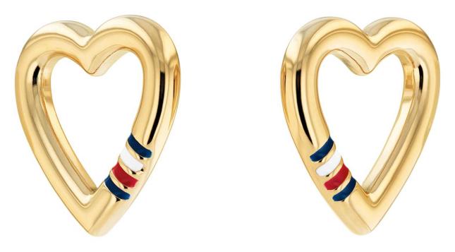 Tommy Hilfiger Women's Casual Core Gold Plated Heart Stud Earrings 2780471