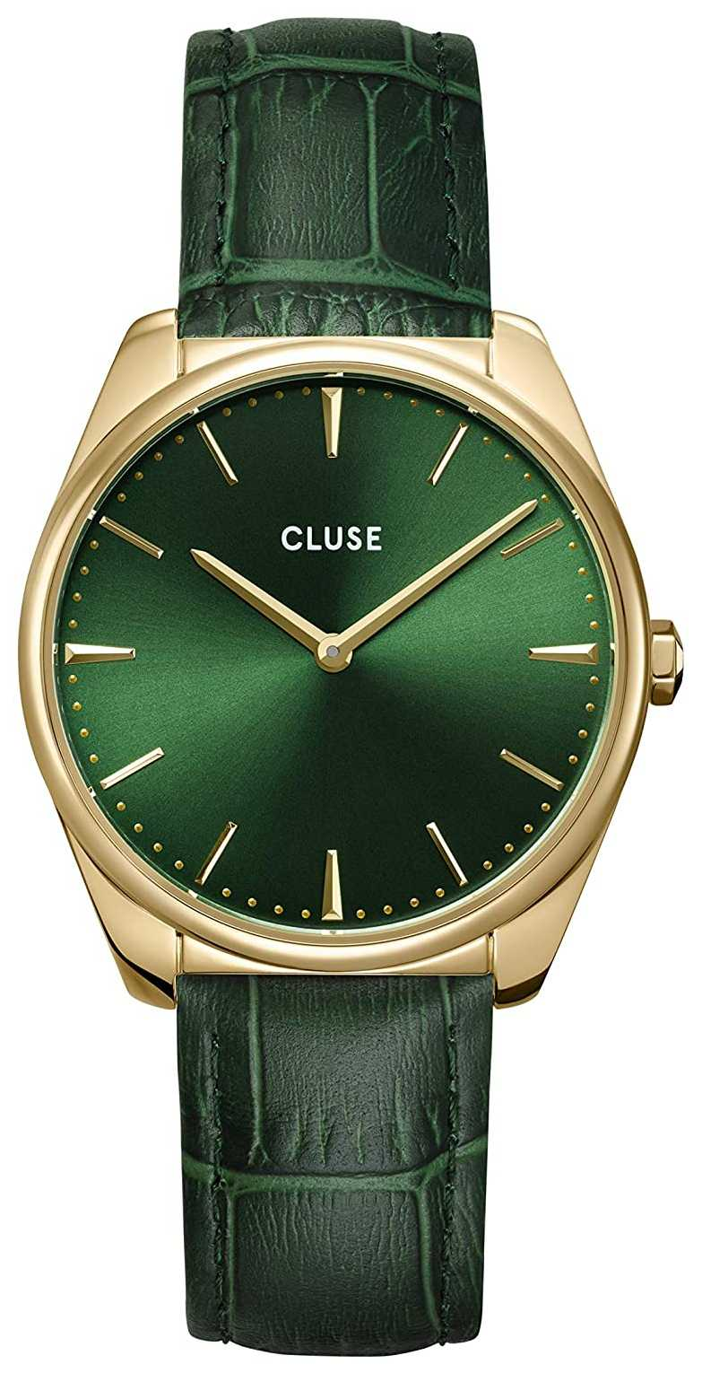 CLUSE | Féroce | Forest Green Leather Strap | Green Dial | CW0101212006