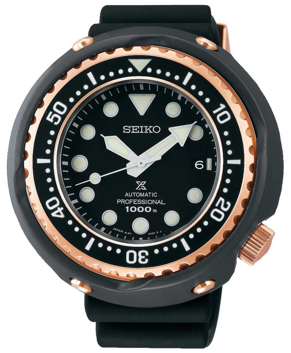 Seiko Men's Prospex   Black Silicone Strap   Black Dial   SLA042J1