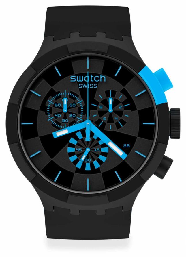 Swatch Checkpoint Blue Big Bold Chrono SB02B401