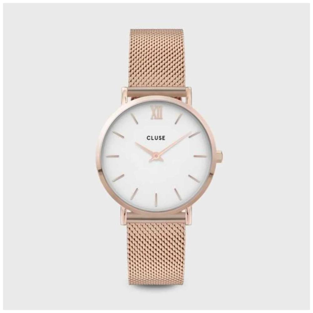 CLUSE | Minuit | Rose Gold Mesh Bracelet | White Dial | CW0101203001