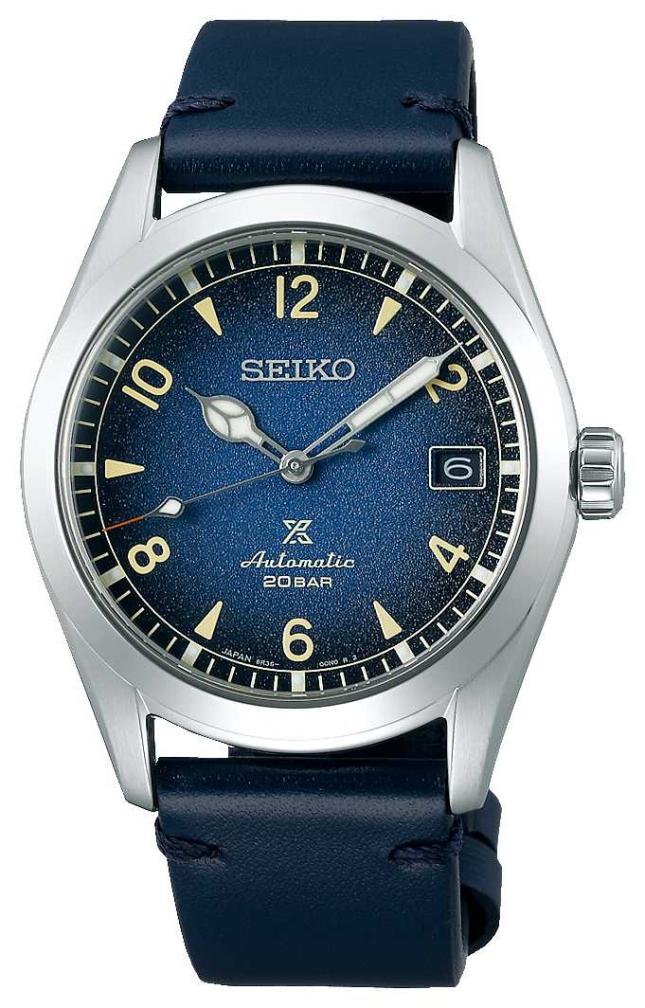 "Seiko Men's Prospex ""Alpinist""   Automatic   Blue Leather Strap SPB157J1"