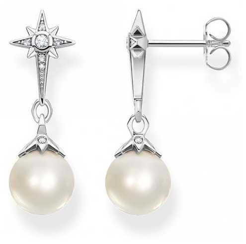 Thomas Sabo Sterling Silver Fresh Water Pearl Drop Earrings H2118-167-14