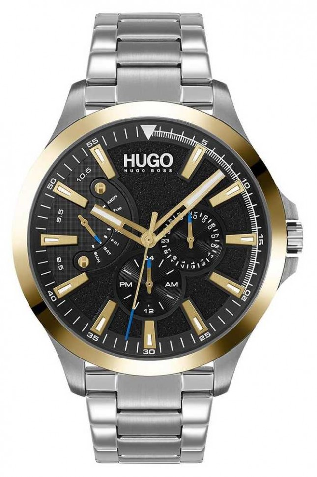 HUGO #LEAP Casual | Black Dial | Stainless Steel Bracelet 1530174