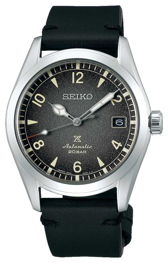 Seiko Prospex Alpinist   Mens   Calfskin   Black   Watch SPB159J1