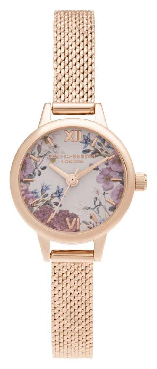 Olivia Burton Mini Blooms Mini Dial Rose Gold Bracelet OB16EG156