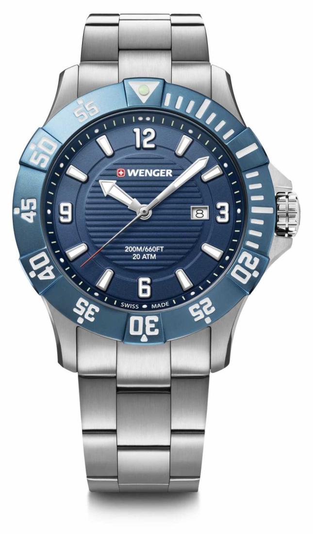Wenger Seaforce 43mm | Stainless Steel Bracelet | Blue Dial 01.0641.133