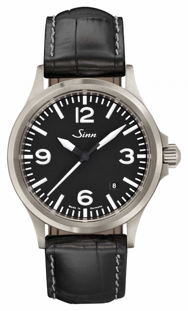 Sinn 556 A Sports Sapphire Glass Alligator Embossed Leather Strap 556.014-BL44201851001225403A