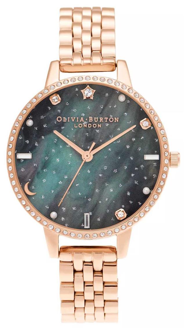 Olivia Burton Northern Lights Demi Dial Rose Gold Bracelet OB16GD66