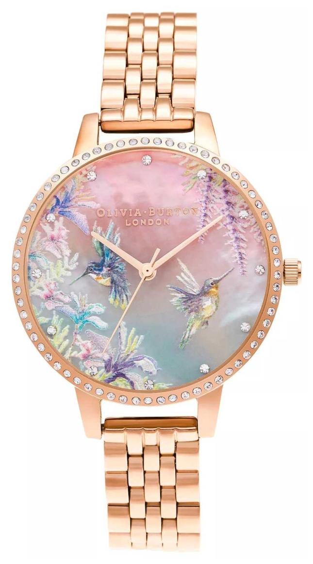 Olivia Burton Sparkle Hummingbird Rose Gold Bracelet OB16PP60