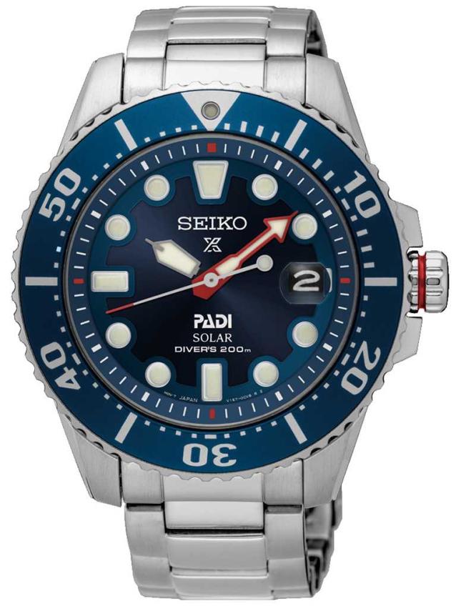 Seiko Men's PADI | Prospex Divers | Stainless Steel | Blue Dial SNE549P1