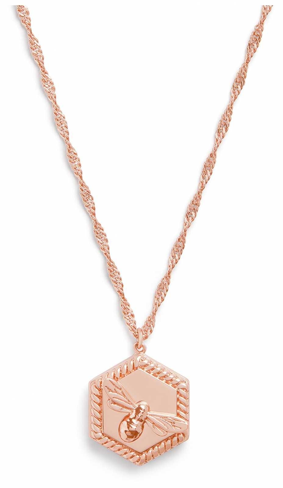 Olivia Burton Lucky Bee Locket Necklace Rose Gold OBJAMN83