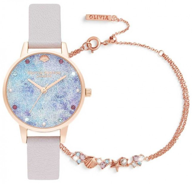 Olivia Burton Under The Sea | Watch And Bracelet Gift Set | Lilac OBGSET142