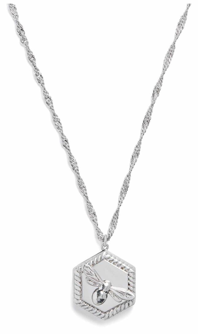 Olivia Burton Lucky Bee Locket Necklace Silver OBJAMN81