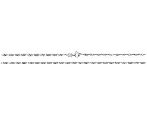 Treasure House Silver Rhodium Plated Singapore Chain 16″ G1102RH/16