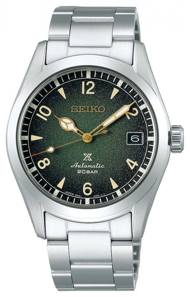 Seiko Prospex Alpinist | Mens | Green Dial | Stainless Steel Bracelet SPB155J1