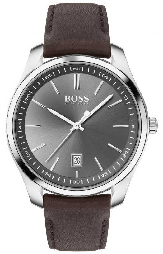 BOSS | Mens | Gift Set | Circuit | Brown Leather Strap 1570083