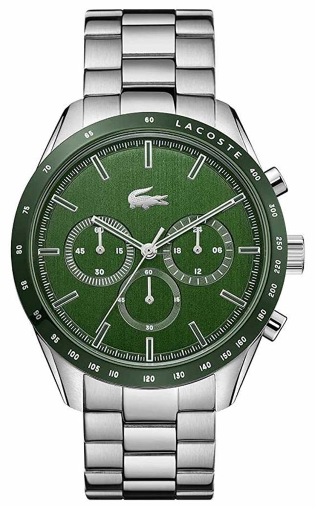 Lacoste | Men's | Boston | Stainless Steel Bracelet | Green Dial | 2011080