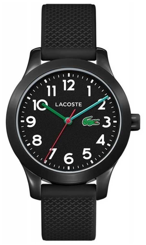 Lacoste   12.12 Kids   Black Silicone Strap   Black Dial   2030032
