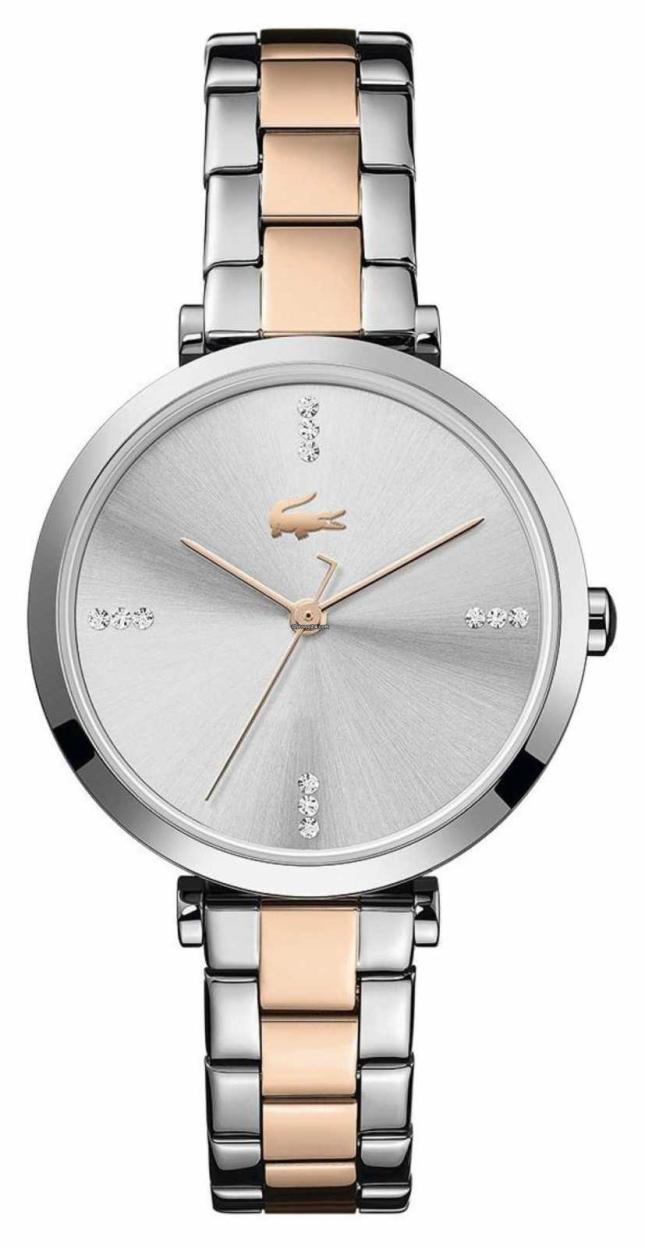 Lacoste   Women's   Geneva   Two-Tone Steel Bracelet   Silver/White Dial   2001143
