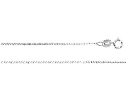 Treasure House 20″ Platinum Ladies Curb Chain CP105/20