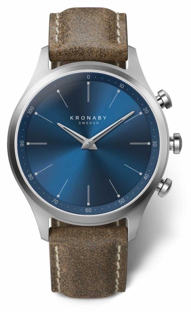 Kronaby 41mm SEKEL Blue Dial Truffle Leather Strap A1000-3759 S3759/1
