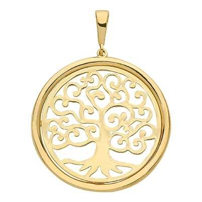 Treasure House 9ct Yellow Gold Tree Of Life 2.4cm 3cm Drop Pendant Only PN1079