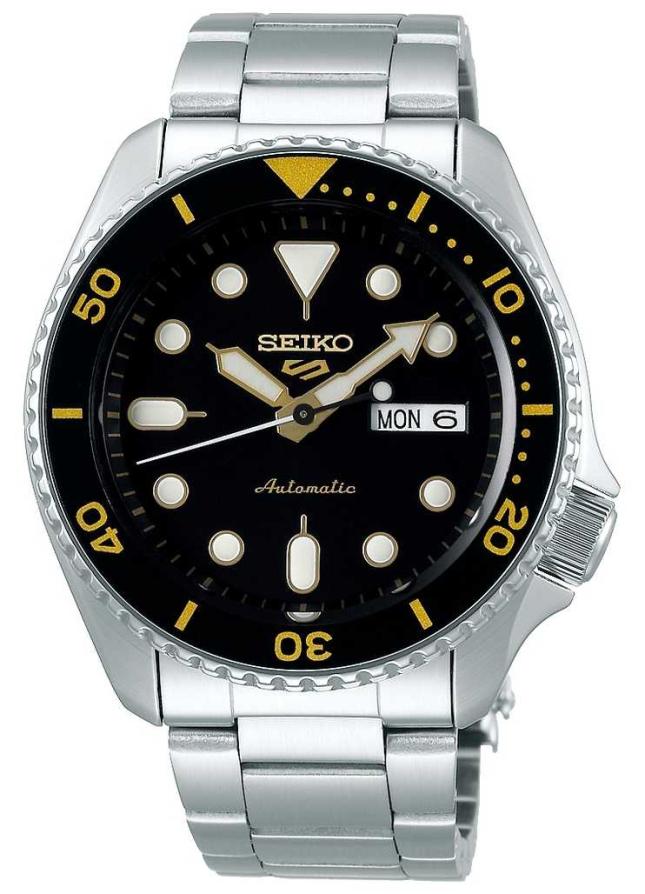 Seiko 5 Sport | Sports | Automatic | Black & Gold Dial SRPD57K1