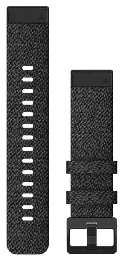 Garmin QuickFit 20 Watch Strap Only, Heathered Black Nylon With Black Hardware 010-12875-00