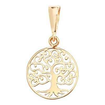 Treasure House 9ct Yellow Gold Tree Of Life 1.2cm 2cm Drop Pendant Only PN1062