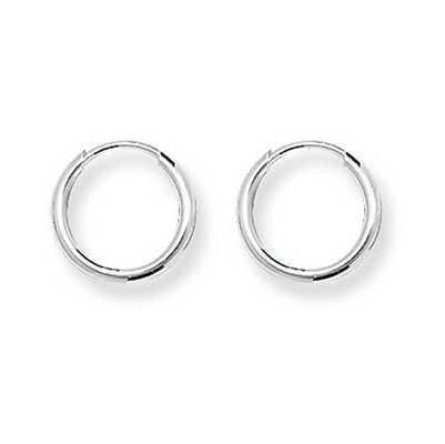 Treasure House Silver Tiny 10mm Round Sleeper Earrings G5531