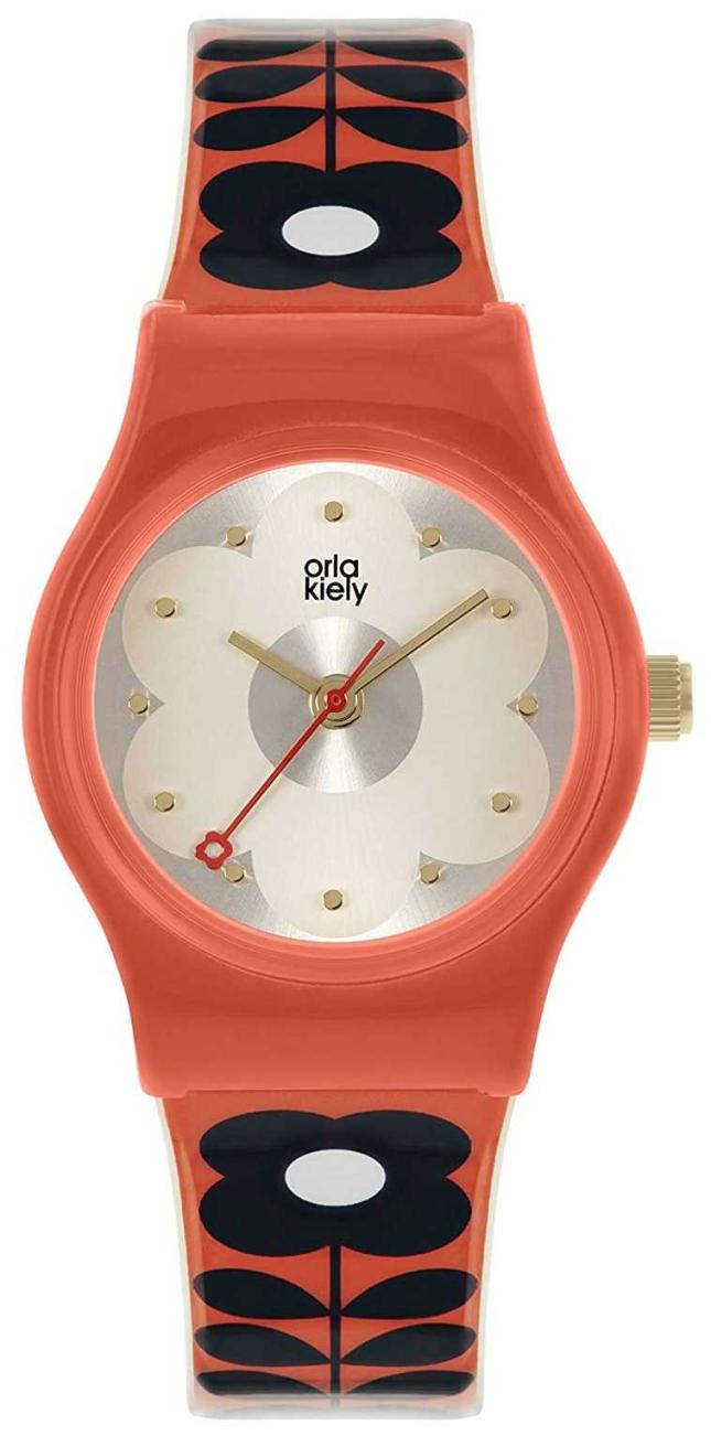 Orla Kiely Baby Bobby | Red Plastic Case | Red Flower Print Strap OK2326
