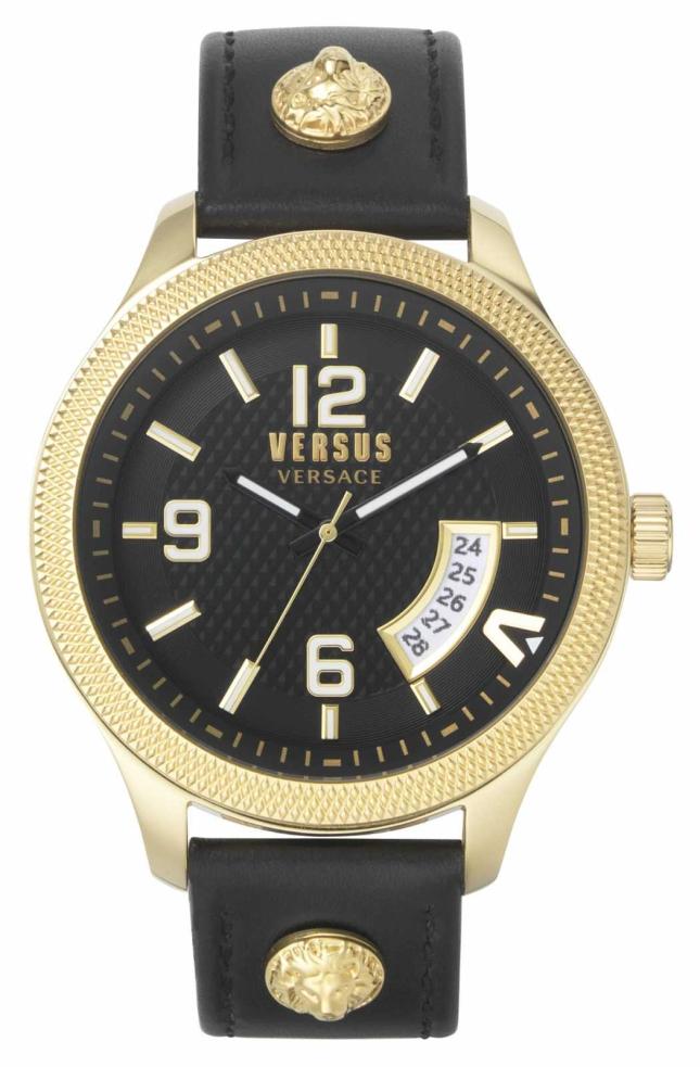 Versus Versace | Men's | Reale | Black Leather Strap | Black Dial | VSPVT0220