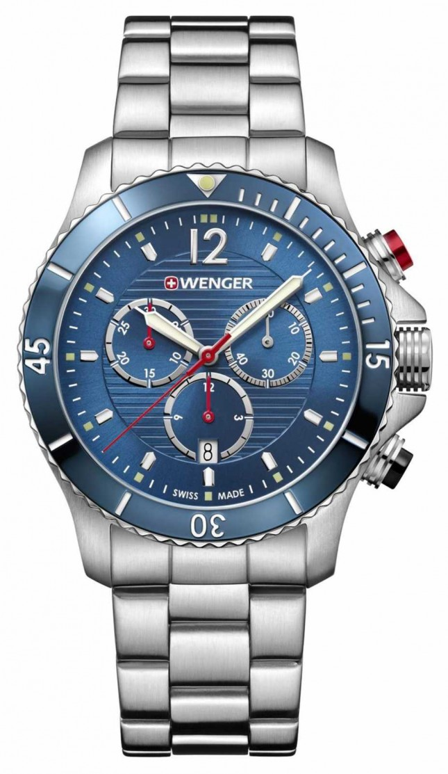 Wenger Seaforce | Chrono | Blue Dial | Stainless Steel Bracelet 01.0643.111