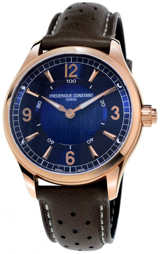 Frederique Constant Exclusive Horological Smartwatch | Brown Leather Strap FC-282AN5B4