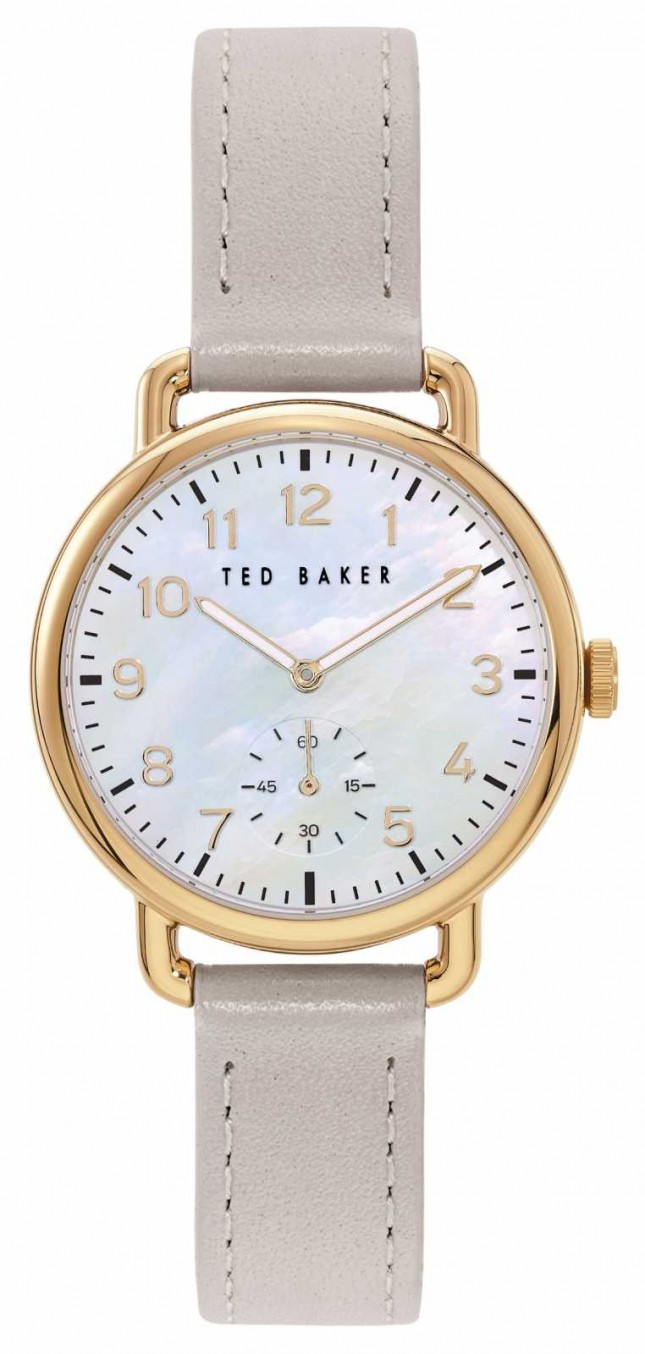 Ted Baker | Women's | Hannah | Grey Leather Strap | Mother Of Pearl Dial | BKPHHF905
