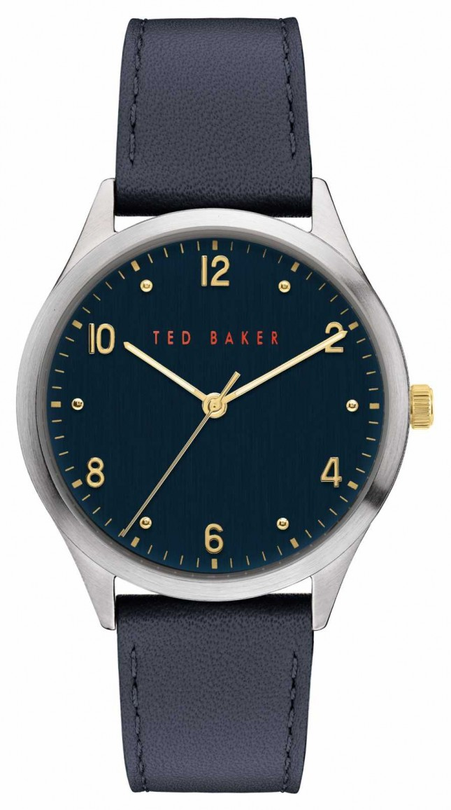 Ted Baker | Men's | Manhatt | Blue Leather Strap | Blue Dial | BKPMHF906