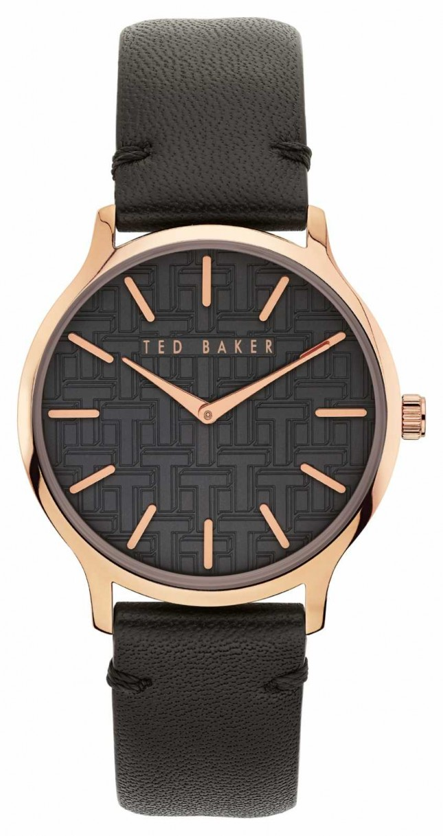 Ted Baker | Women's | Poppiey | Black Leather Strap | Black Dial | BKPPOF902