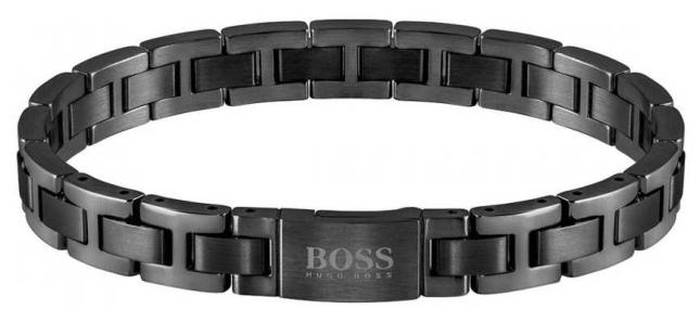 BOSS Jewellery Mens | Essentials | Black IP Steel Bracelet 1580055