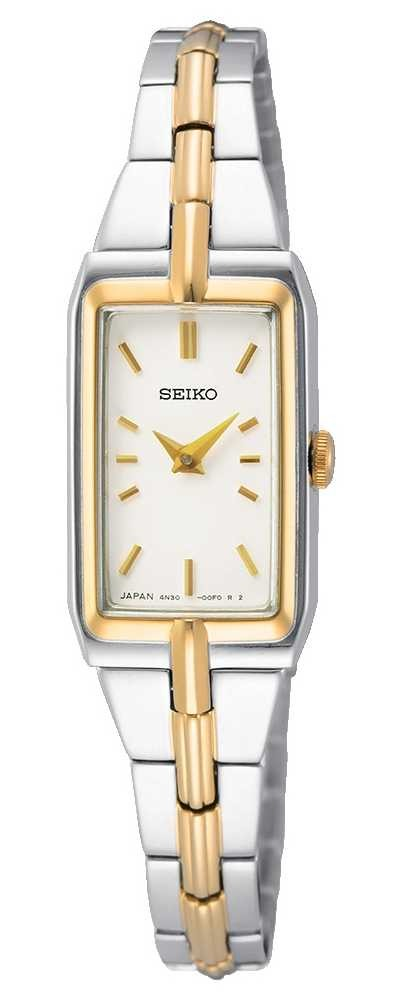 Seiko Women's Two-Tone Steel Bracelet | White Dial SWR044J8