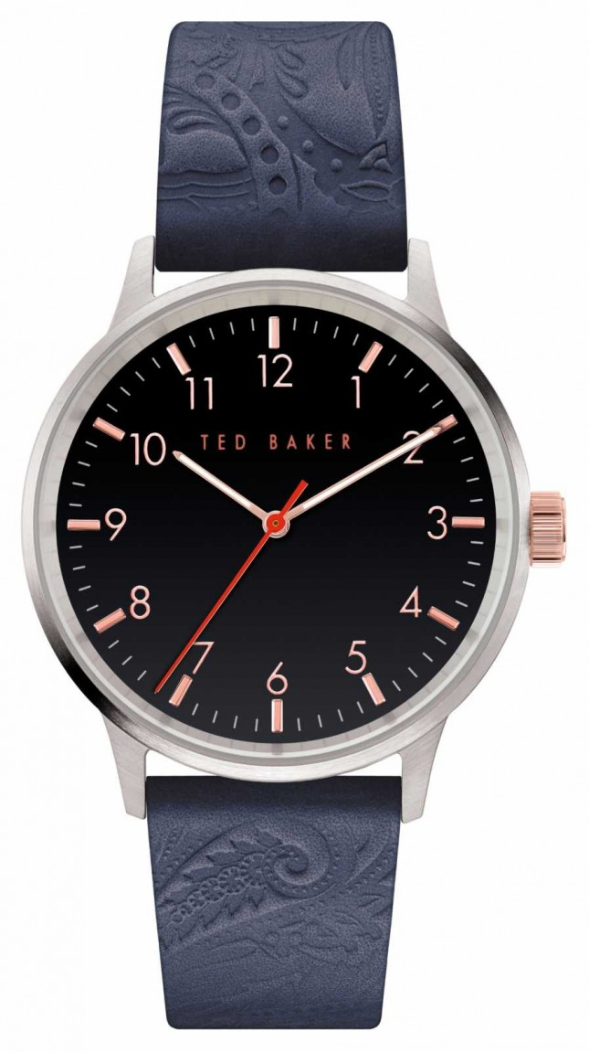 Ted Baker | Men's | Cosmop | Blue Leather Strap | Black Dial | BKPCSF908