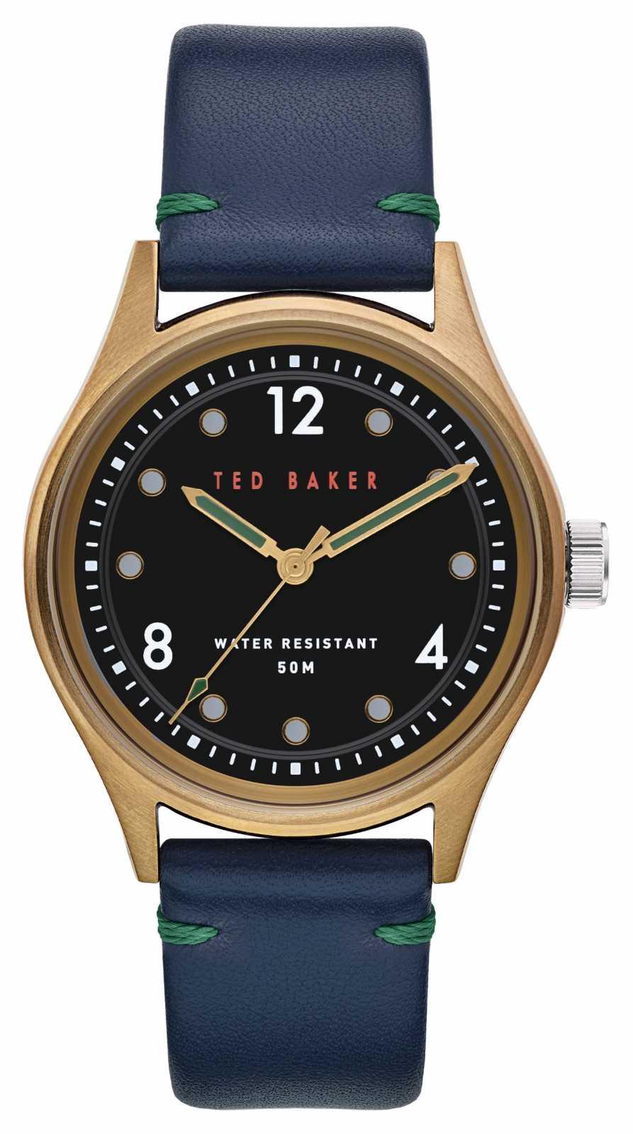 Ted Baker | Men's | Beleeni | Blue Leather Strap | Black Dial | BKPBLF907