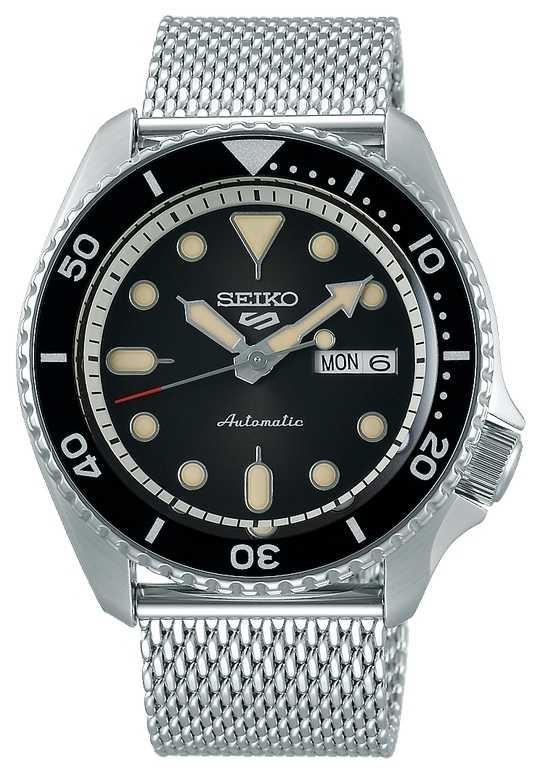 Seiko 5 Sport | Suits | Automatic | Black Dial | Steel Mesh SRPD73K1
