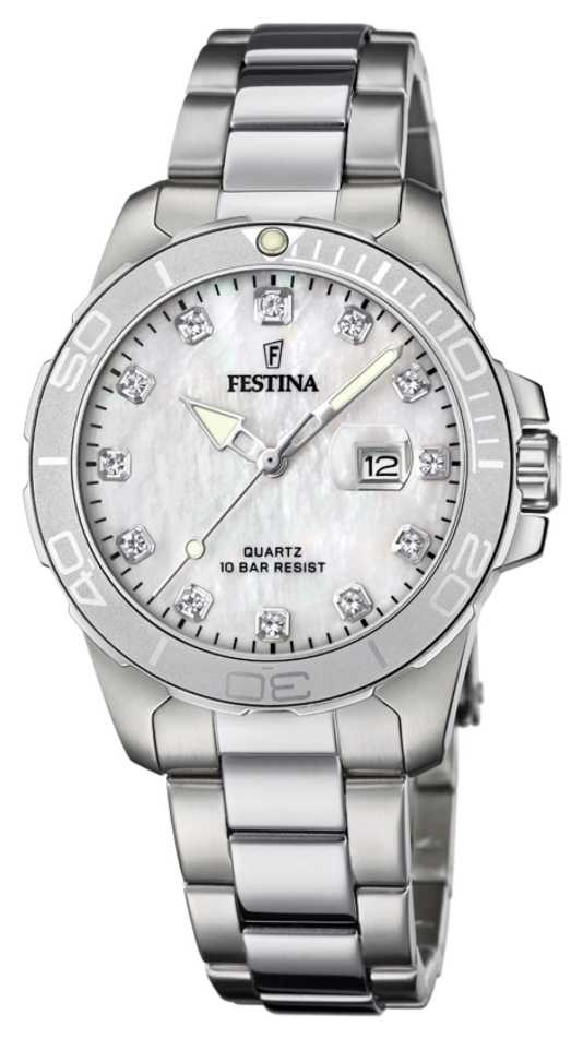 Festina Women's Stainless Steel Bracelet | Silver Mother Of Pearl Dial F20503/1