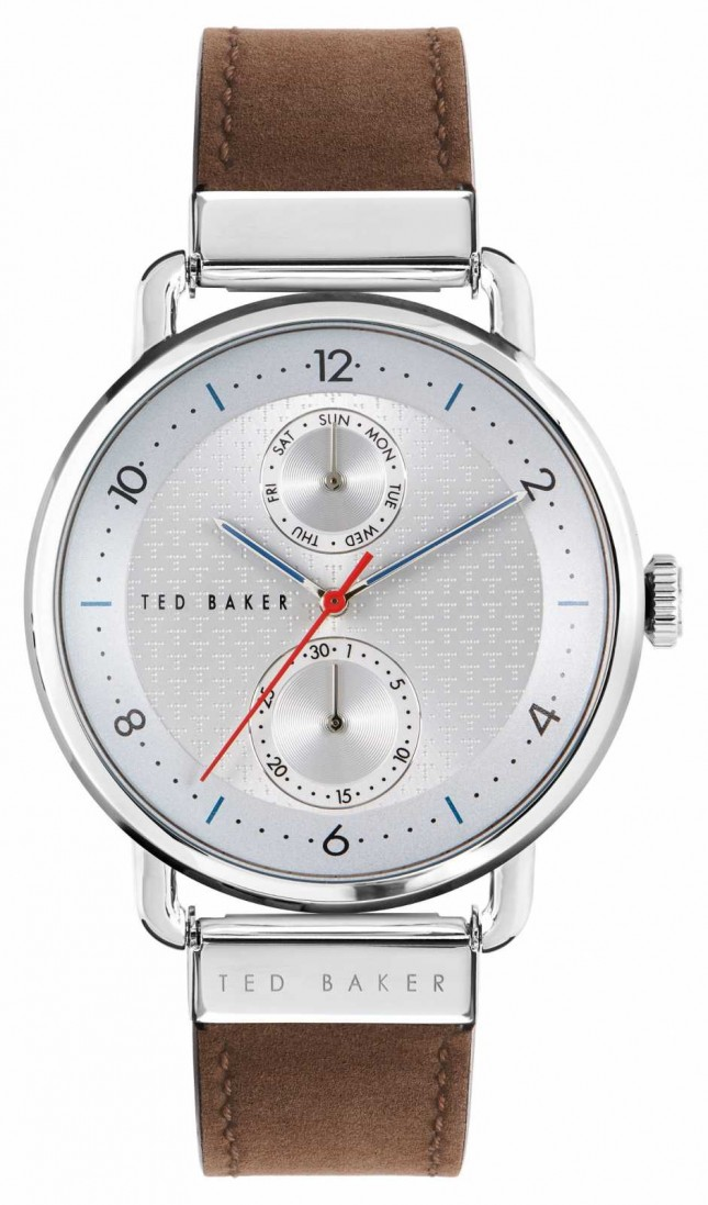 Ted Baker | Men's | Brixam | Brown Leather Strap | Silver Dial | BKPBXF004