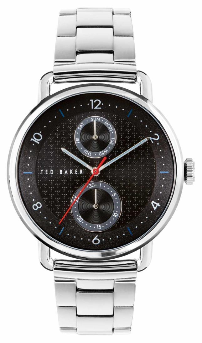 Ted Baker   Men's   Brixam   Stainless Steel Bracelet   Black Dial   BKPBXF009